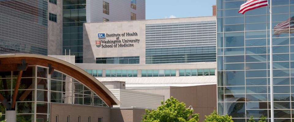 Picture of the BJC Institute of Health at Washington University School of Medicine.